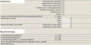 Auszug aus einer Checkliste