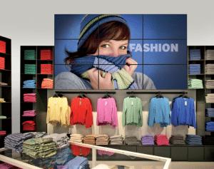 Display in einer Boutique