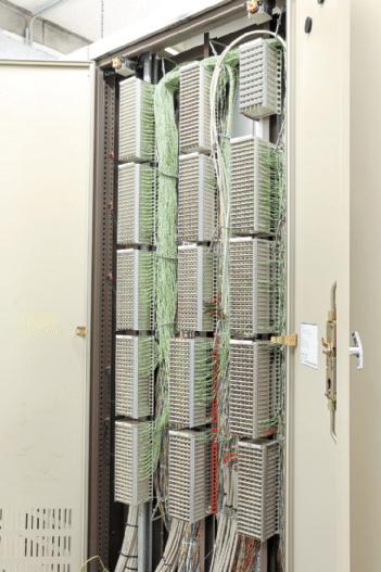 Hauptverteiler in der Zentrale des Notspeisegebäudes