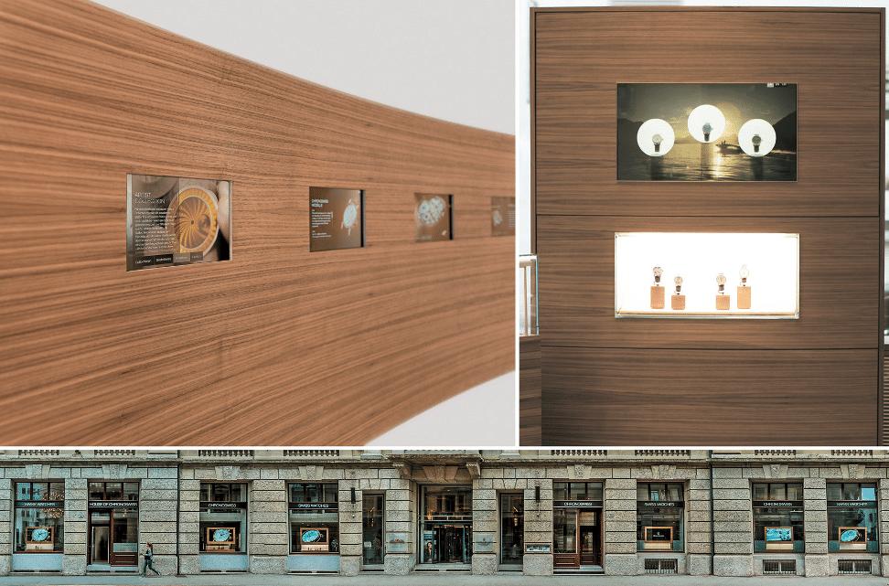 Gelungene Kombination aus traditionellem Uhrenhandwerk und Multimedia: Das House of Chronoswiss in Luzern (Fotomontage: Chronoswiss)