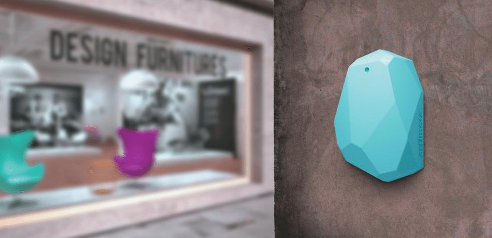 Passt in das stylische Ambiente eines Ladenlokals: iBeacon-Sender von Estimote (Foto: Estimote)