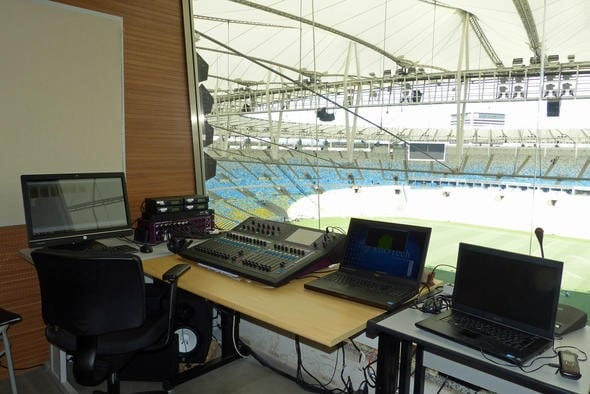 Main-Control-Room im Maracanã Stadion