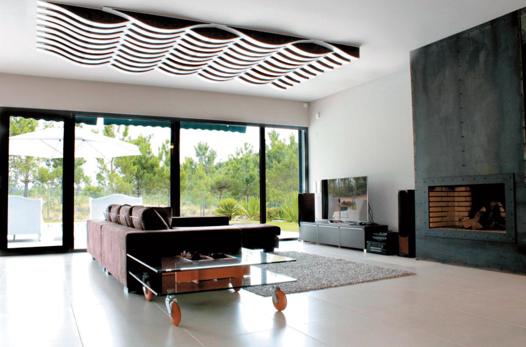 Elegantes Design: das Akustikpanel Flexi Wave mit Mehrfachfunktion als Absorber und Diffusor Quelle: Vicoustic
