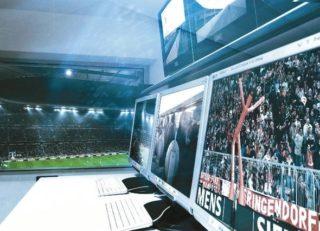 Videanalyse in einem Stadion