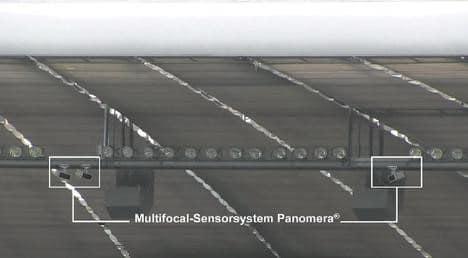 Multifocal-Sensorkamera Panomera in der Allianz-Arena