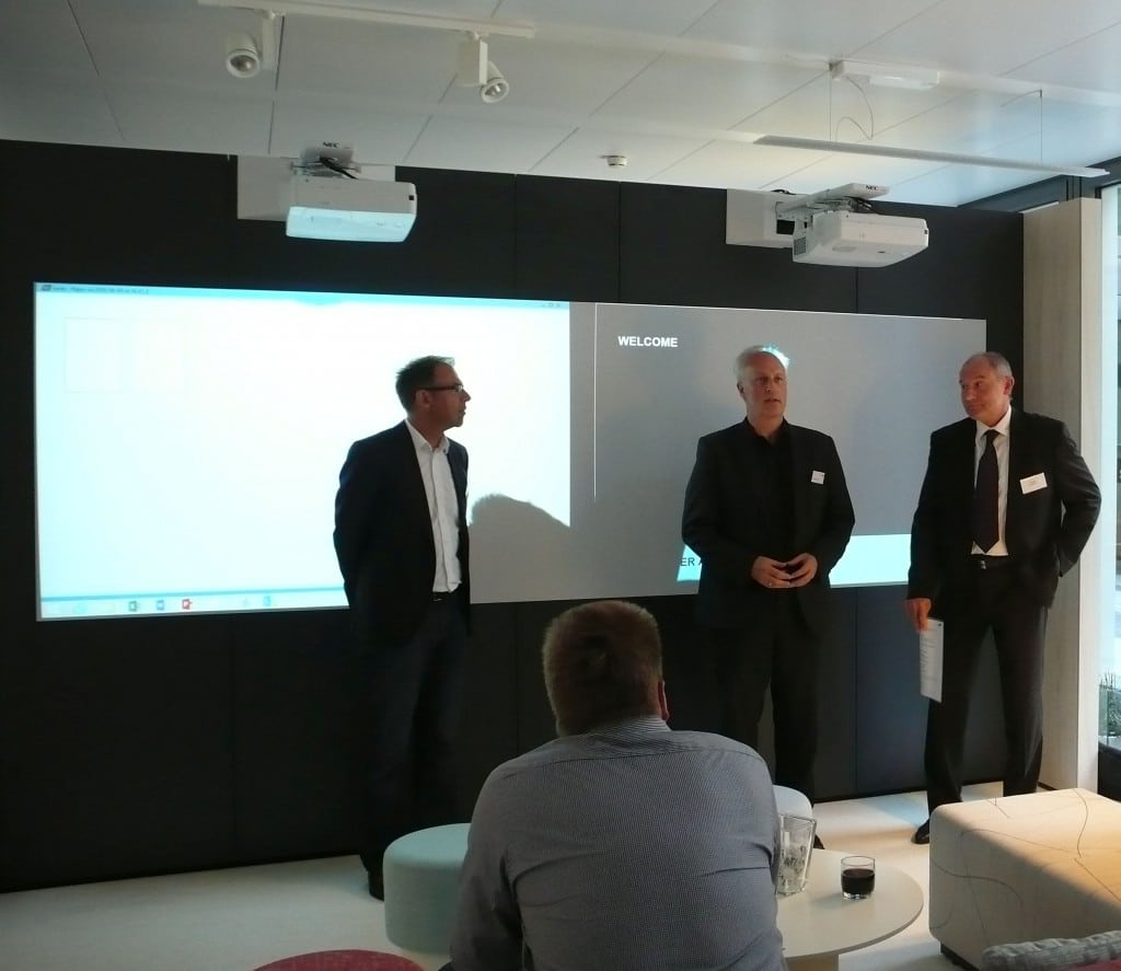 Manfred Santen, AbisZ-Medien, Axel Theisinger, Bene, und Andreas Promny, AK Media