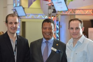 Tobias Lang, Lang AG, ISE Managing Director Mike Blackman, Ollie French, Future Automation