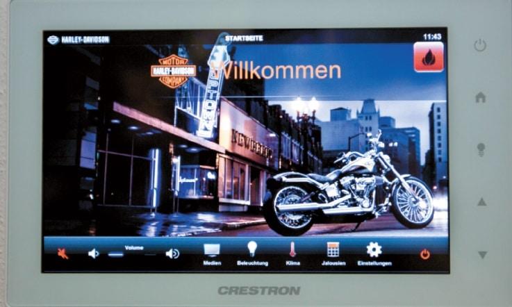 Digital Signage bei Harley Davidson