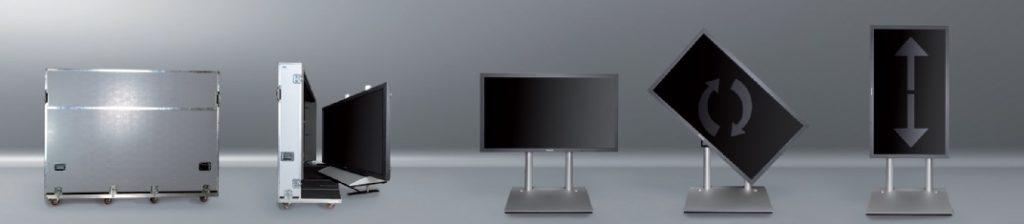 Alle bisher erschienenen ScreenLifter Modelle wurden von Media Screen für den werkzeugfreien Aufbau durch nur eine Person konzipiert