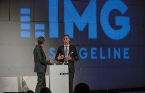 Der Moderator des Abends Volker Hirschfeld zusammen mit Marco Willroth