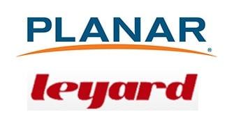 Logos von Planar Systems und Leyard