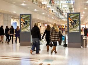 Ströer Screens in einer Münchener Shopping Mall
