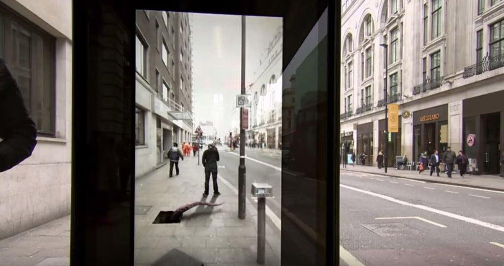 """Der """"Unbelievable Bus Shelter"""" von Pepsi Max."""