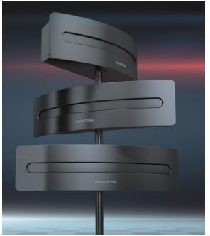 Bei Infrarot-Anlagen werden die Audiosignale in den Sender eingespeist (im Bild ein PRO IR 200 von Audioropa), dort in moduliertes IR-Licht gewandelt, das schließlich vom Sender ausgestrahlt wird.