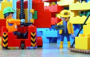 Baustelle aus Lego