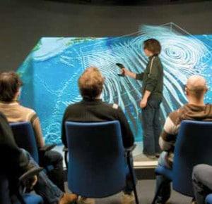 Bis zu 30 Personen können die 3D-Präsentationen erleben