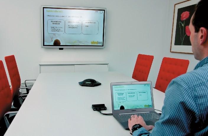 Präsentation in einem Büro