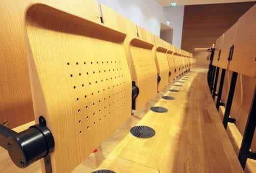 Im neuen Hörsaalzentrum: Hörsaal 2 bietet bis zu 600 Zuhörern Platz