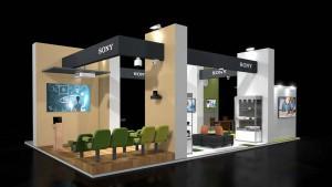 Der neu gestaltete Stand zeigt, wo Schüler und Studenten überall mit Sony-Technologien in Berührung kommen.