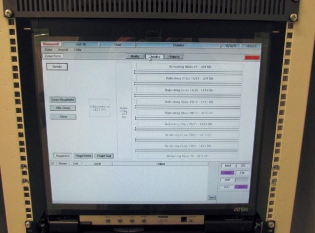 Service-Terminal des PAMMI- Mangementsystems im SAZ Technikraum mit dem automatischen Fehlermanagementsystem