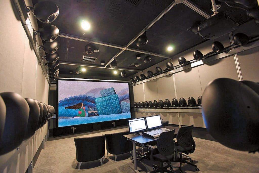 Studioausstattung mit Immersive Sound, hier in Shanghai