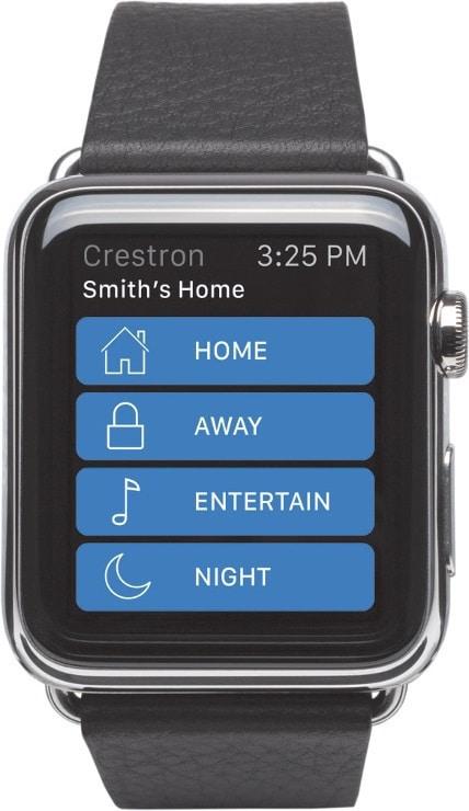 Für Technikfreaks: Crestron App zum Steuern von Haustechnik mit der Apple Watch