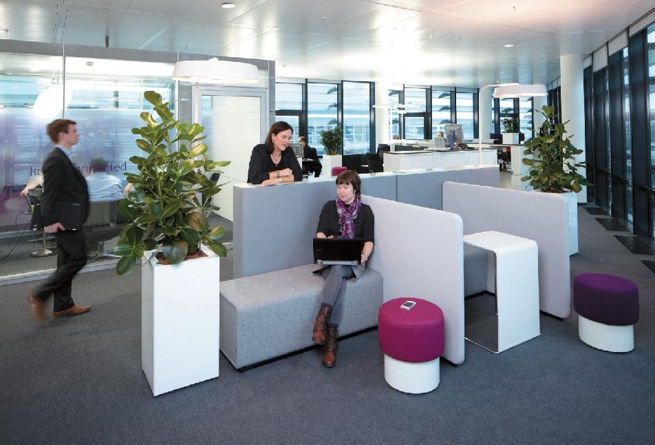 Großraumbüro bei Vodafone