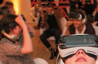 VR Brille im Einsatz