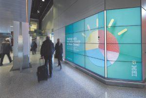 Digital-out-of-Home Medien am Standort Flughafen Düsseldorf