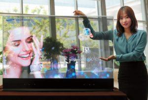 """Transparenter 55"""" OLED-Bildschirm von Samsung"""