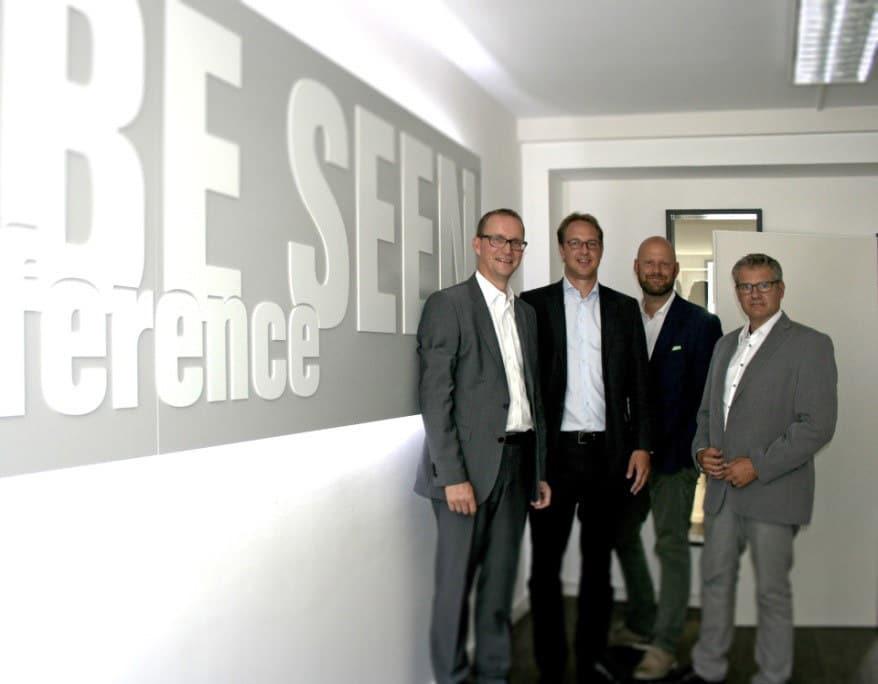 Stefan Knoke, Paul von Schubert, Markus Deserno und Frank Beyer (v.l.n.r.)