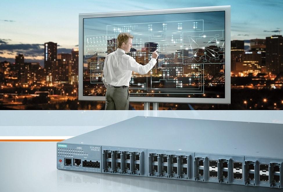 Der Ethernet Switch Scalance XR526-8C von Siemens