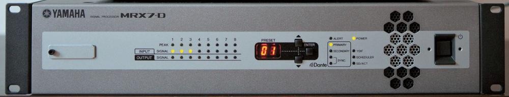 Der Soundprozessor MRX7-D von Yamaha bietet vorgefertigtes Stimmengewirr, zum Beispiel mit Blätter- oder Meeresrauschen im Hintergrund