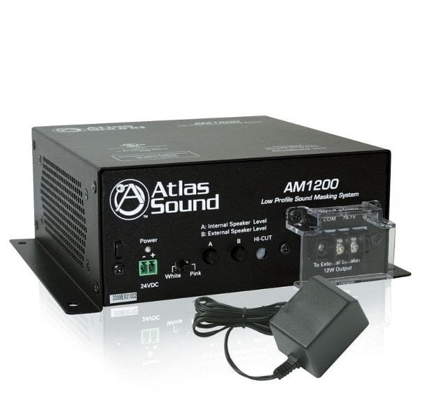 """Der AM1200 von Atlas IED ist ein eigenständiges Masking-System mit zwei integrierten 2"""" x 4""""- Lautsprechern und einem 12-Watt-Verstärker"""