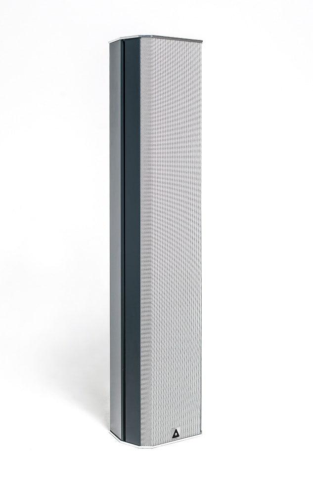 Der aktive Zeilenlautsprecher Pan Beam PB 224 schafft eine Reichweite von 50 Metern. Bild: Pan Acoustics
