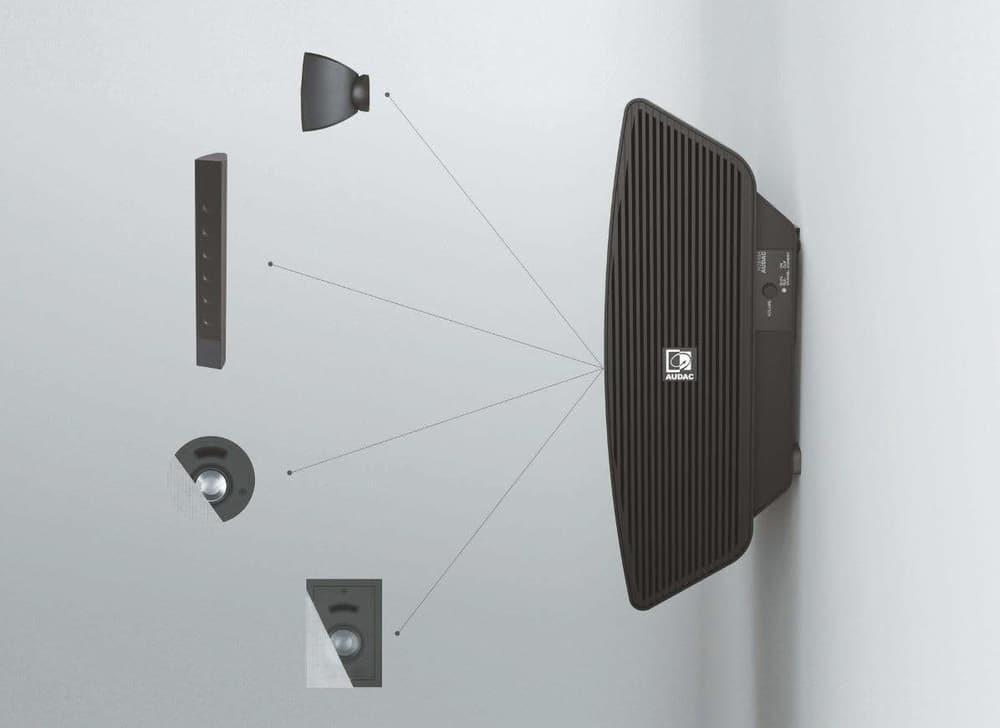 Der Noba ist mit zahlreichen anderen Lautsprechern von Audac kompatibel.