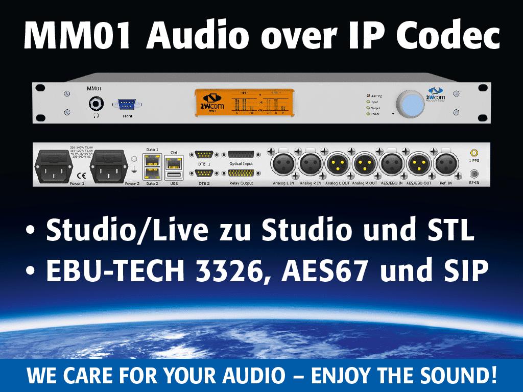 MM01 AoIP CODEC von 2wcom Systems