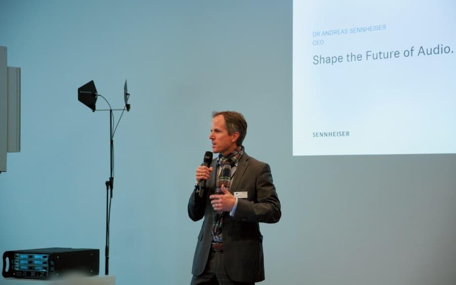 Begrüßung durch CEO Dr. Andreas Sennheiser