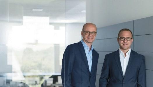Die Geschäftsführer Peter Möller (links) und Manuel Holz