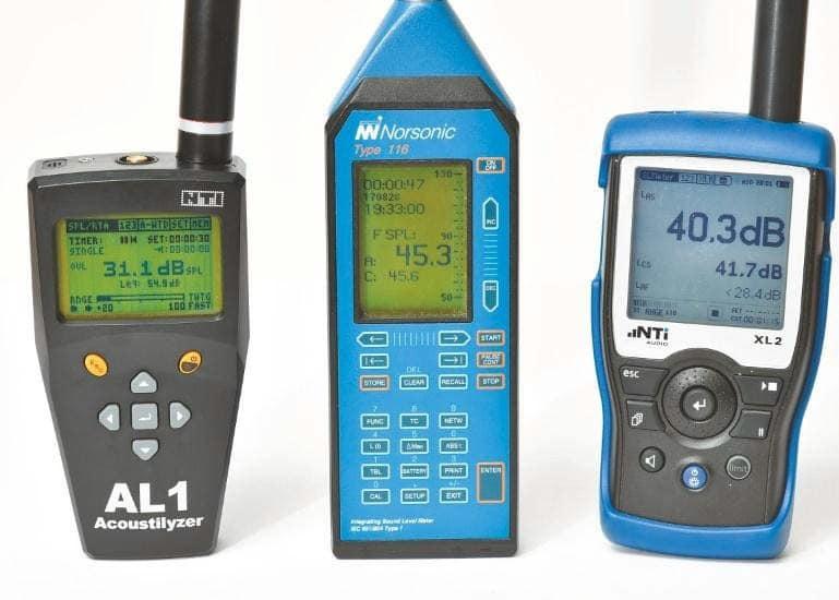 NTI AL1, ein Norsonic 116 und der populäre NTI XL2