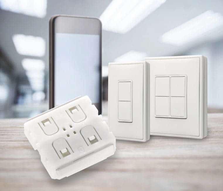 Batterielose Funkmodule für BLE-Systeme (Bluetooth Low Energy) mit 2,4 GHz, PTM 215B mit NFC-Funktionalität