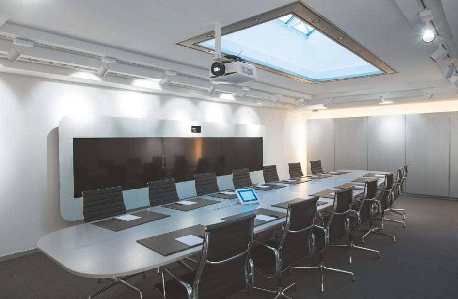 Raum Bamberg mit einem Videokonferenz-System