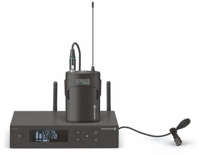 Kondensator-Ansteckmikrofon TG L58 von Beyerdynamic mit TG 500 Taschensender und Einkanalempfänger