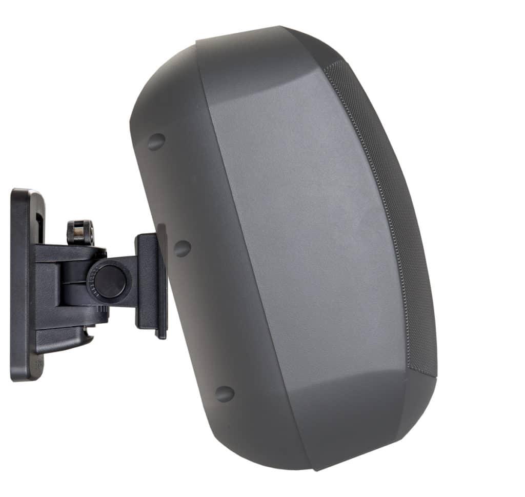 6. Click & Play  Sämtliche Anschlüsse werden an der Halterung vorgenommen. Nach der Click-Montage ist der MASKC-Lautsprecher sofort einsatzbereit.
