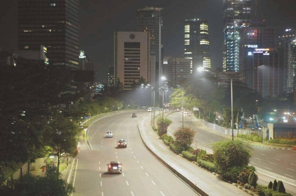 Beleuchtung mit Philips CityTouch in Jakarta