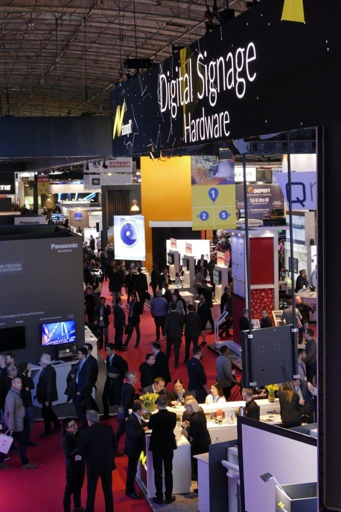 Blick in Halle 1 auf der ISE 2018