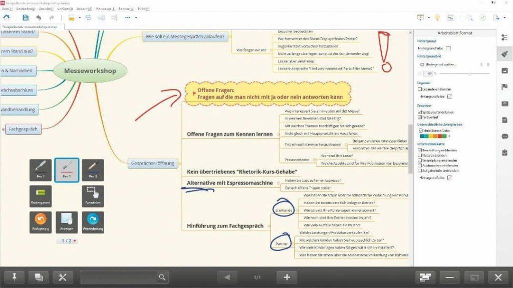Annotationen im Overlay-Modus der Pen-Software
