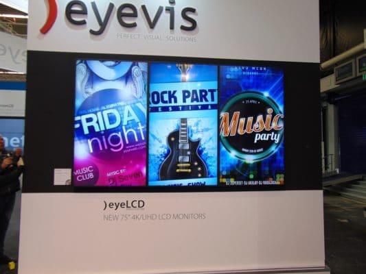 eyevis 75 Zoll 4k Monitore