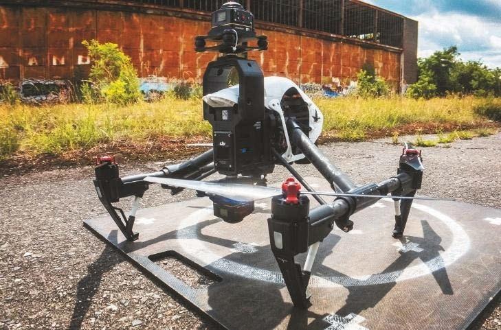 Drohnen-Setup mit zwei VR-Kameras