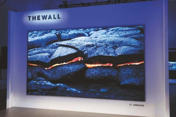 "Samsungs ""The Wall"" in MicroLEDs-Technik"